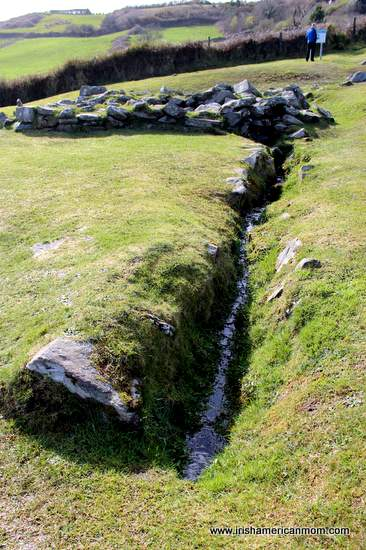 Drainage from the fulacht fiadh in Drombeg County Cork