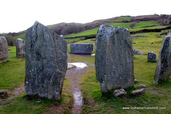Stones aligned to the winter sun on December 21 at Drombeg Stone Circle County Cork
