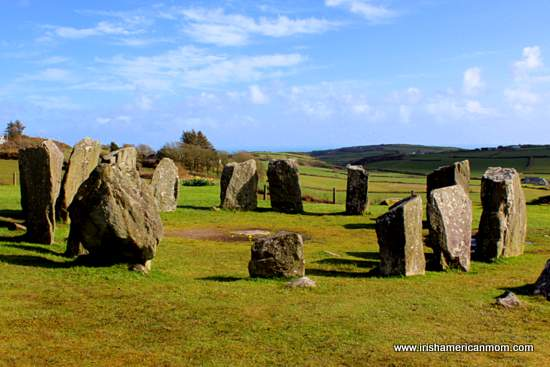 View of Drombeg Stone Circle