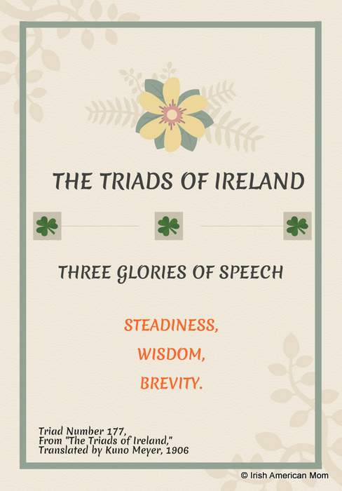 The Three Glories of Speech from the Triads of Ireland translated by Kuno Meyer 1906
