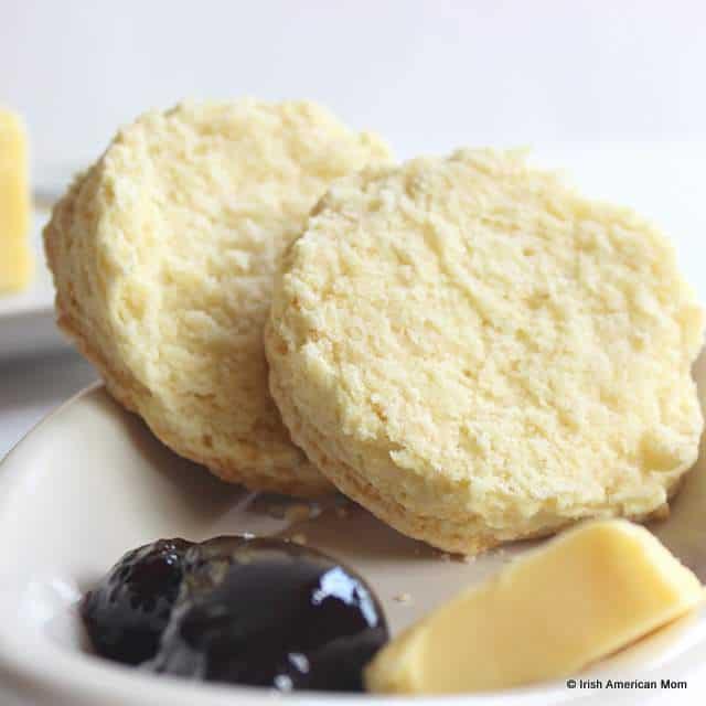 The inside of an Irish buttermilk scone