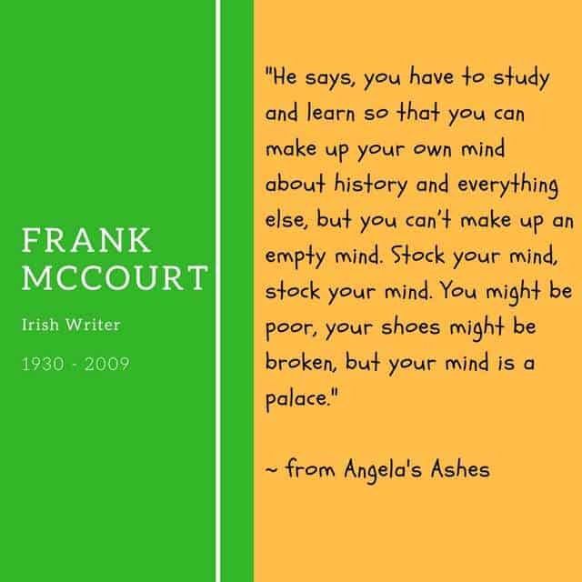 Frank McCourt - saying about education