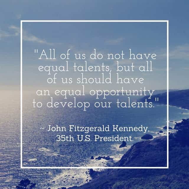 JFK - Equal talents