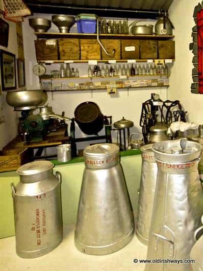Milk Churns from Ireland - Old Irish Ways Museum Bruff County Limerick