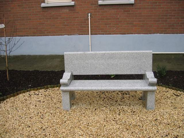 Example of a polished granite bench suitable for a graveyard.