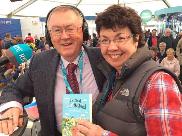 Lorna Sixsmith with RTE Radio Presenter Sean O'Rourke