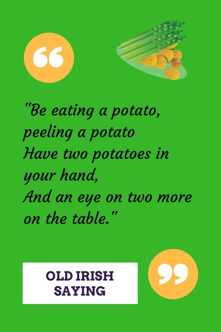 Irish Potato Sayings