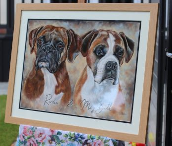 German-Boxers-Pastel-Portrait