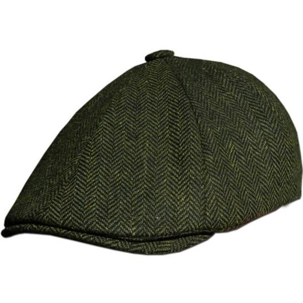 Tweed Driving Cap - Green Irish Caps Usa