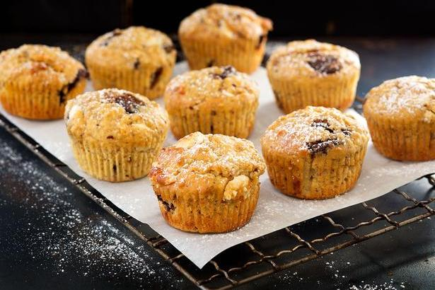 Tempting chocolate orange and hazelnut muffins