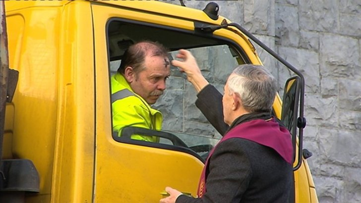 Galway church's 'drive-thru' Ash Wednesday service