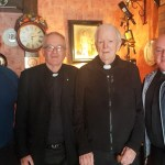 KERRY: The annual Mass for Manor Village residents was recently celebrated by Canon JamesLinnane, sitting centre of seat. The O'Shea brothers supplied the music, and refreshments were served by the community. Photo: John Cleary