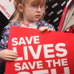 Rachel Tierney (5) from Galway at the Rally for Life in Dublin.