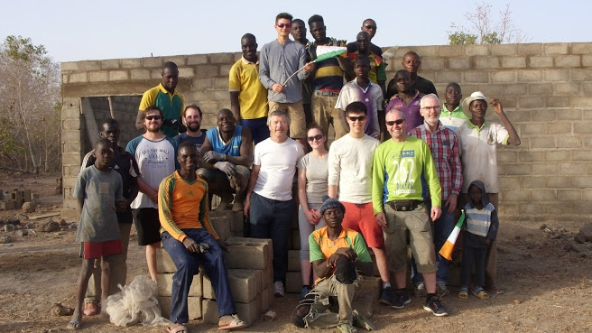 Irish team build dairy in Burkino Faso