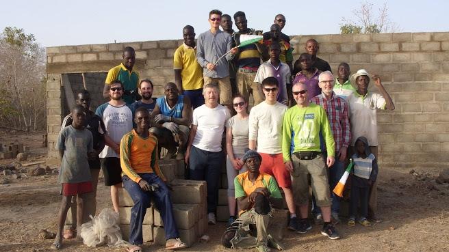 Irish team build dairy in Burkino Faso