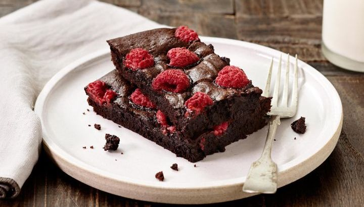 Try healthy coconut and raspberry brownies