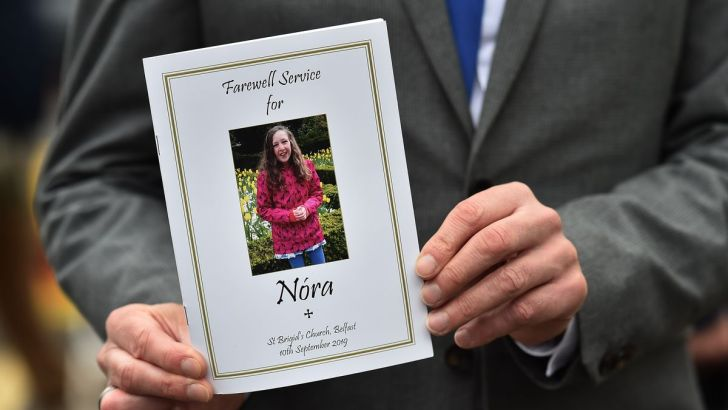 God never abandons us, Nóra Quoirin's mourners are told