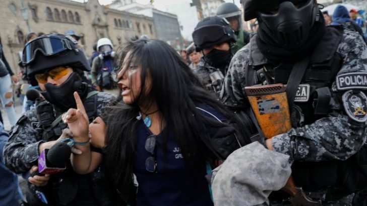 Bolivian church houses dead after protests