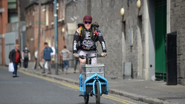Student gets on his bike for the needy