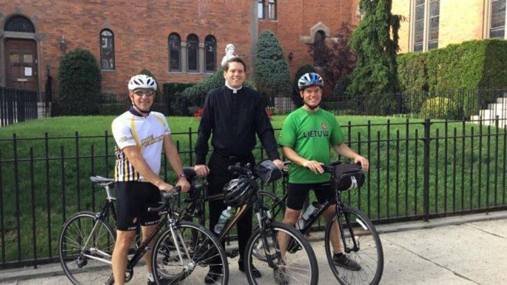 Priest's 100-mile bike ride raises aid for parish – and hope