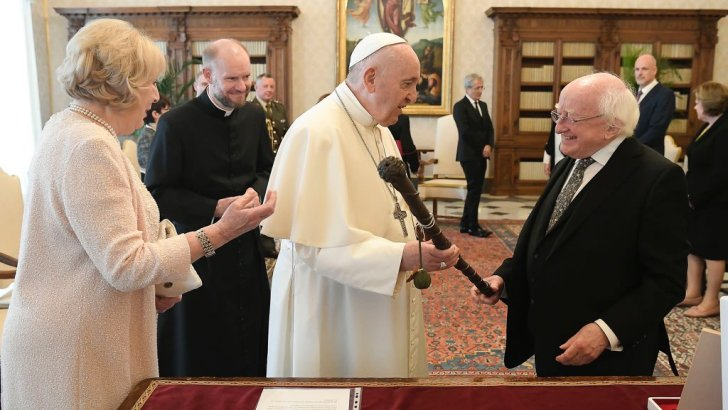 Pope Francis and President Higgins talk peace process in the North