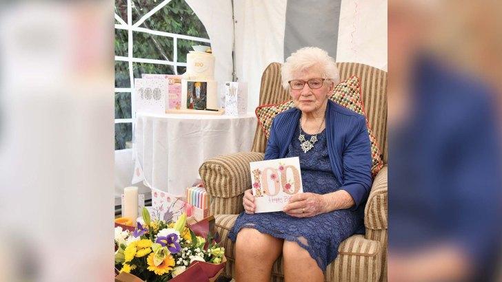 Parish unveils bench for 'precious' centenarian