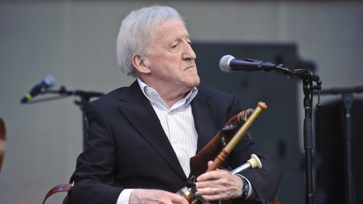 Musician and frequent worshipper Paddy Moloney (83) remembered