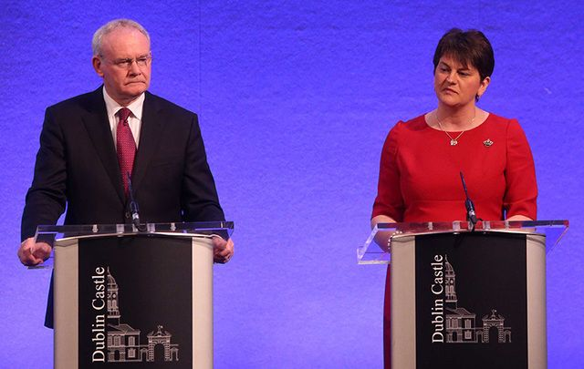 First Minister Arlene Foster and former First Deputy Martin McGuinness.