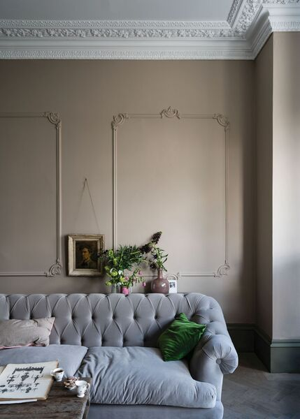 Farrow & Ball's Jitney neutral works in modern and historic homes, making a chic and warming companion for the ever-popular and cooler grey.