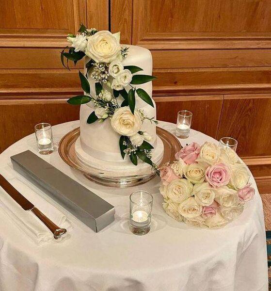 "Preisssner's sister-in-law made the ""incredible"" cake.  Image: Stefanie Preissner via Instagram."