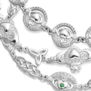 Silver Claddagh Bracelets