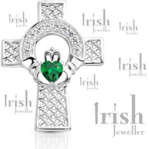 Silver Claddagh Crosses