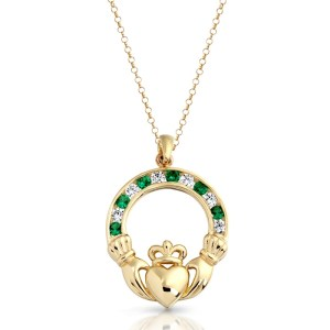 9ct Gold Claddagh Pendant-P014G