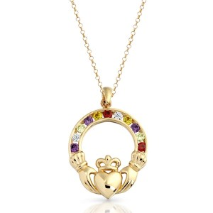 9ct Gold Claddagh Pendant-P014M