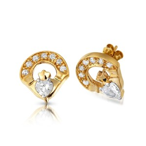 Claddagh Earrings-E187