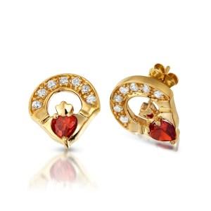 Claddagh Earrings-E187GAR