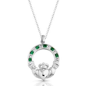 Silver Claddagh Pendant-SP014G