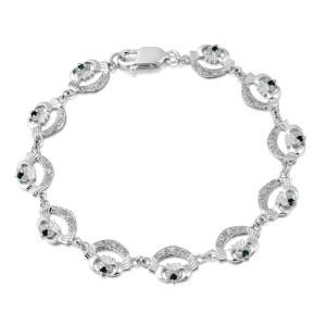 Silver Claddagh Bracelet-SCLB4CZG