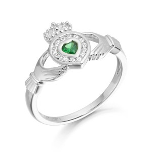 Silver Claddagh Ring-SCL38