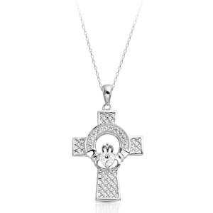 Silver Claddagh Cross-SC126