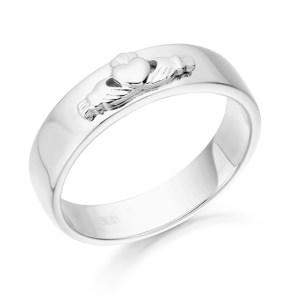 Claddagh Wedding Band-CL22W