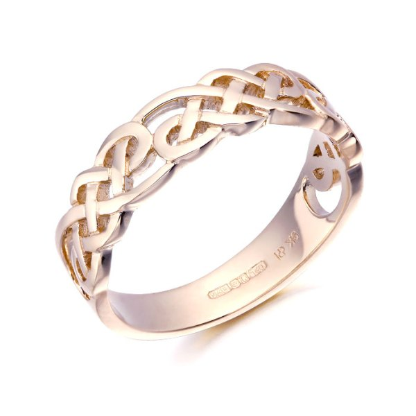 Rose Gold Ladies Celtic Ring - 3242R