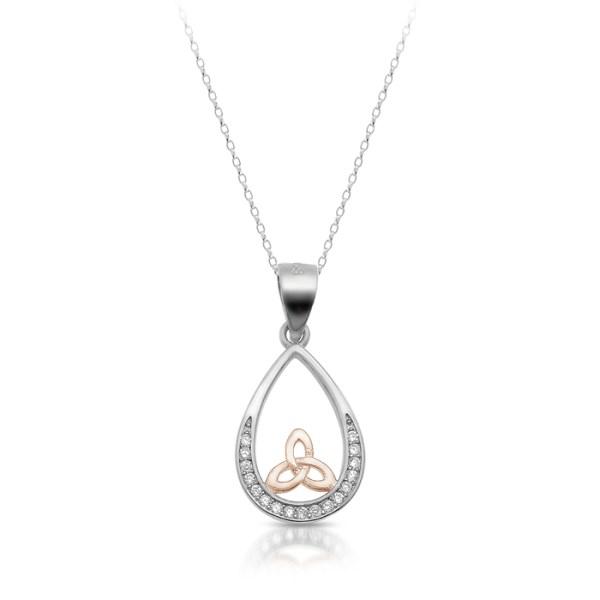 Silver Trinity Knot Celtic Pendant-SP87