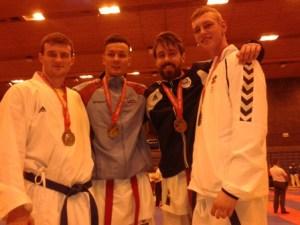 James Brunton (left) finalist Scottish Open Championships 2016