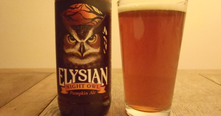 Elysian Night Owl Pumpkin Ale – Head to Head – Review by Matt Anderson