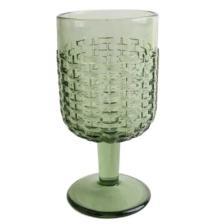 S/6 Ποτήρια κρασιού με πόδι 225ml γυάλινα πράσινα 7.1x7.1x14.5cm Marva 829007