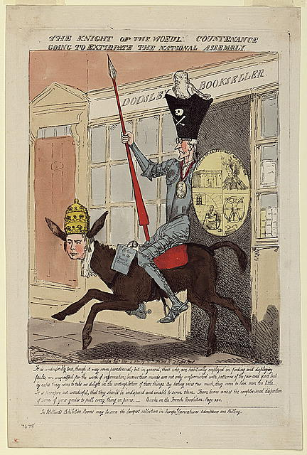 Edmund Burke caricature Don Quixote