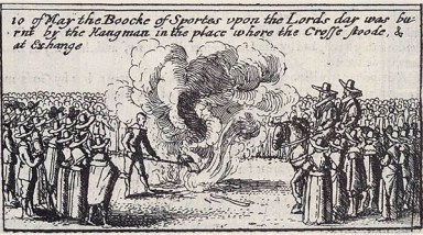 A book burning in London, 1643. (click for source)