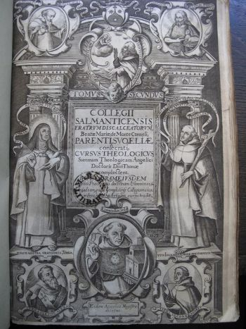 "Title page from ""Collegii Salmanticensis ... theologicus Angelici Doctoris Diui Thomae complectens"", 1637 © Marsh's Library (CC)"