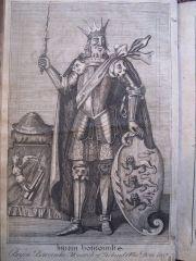 Brian Boru from Geoffrey Keating's General History of Ireland, printed in 1723.